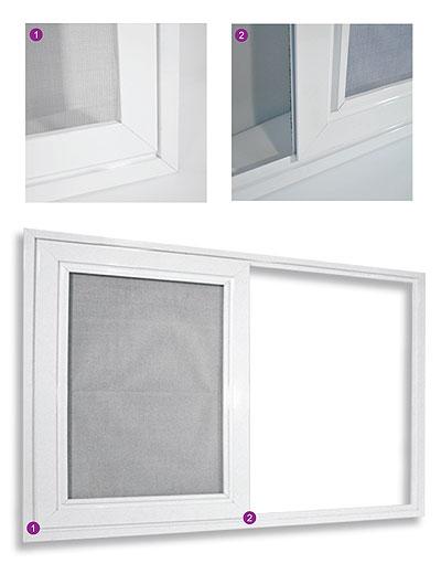 Posuvná dveřní síť v lištách 13x62
