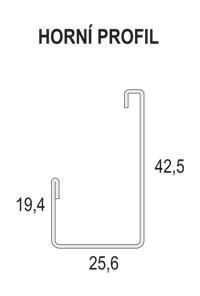 horní profil- horizontální žaluzie